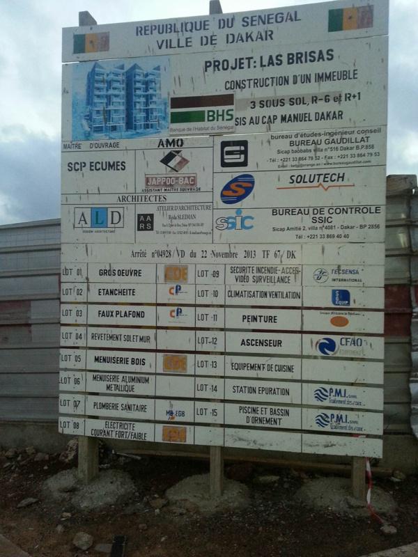 voici l'emplacement du chantier d'Abdoul Mbaye