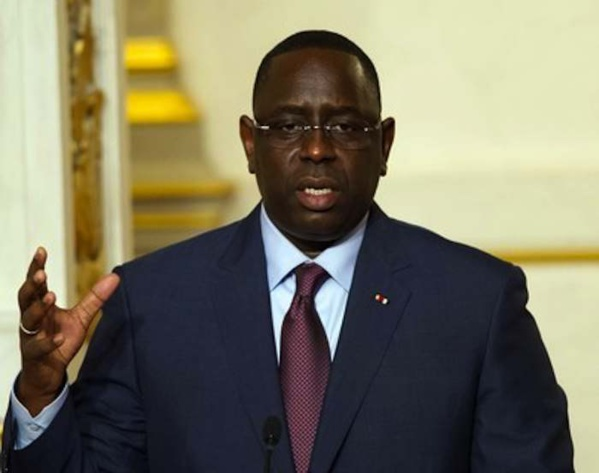 MESSAGE DE CONDOLEANCES du Pr Macky Sall