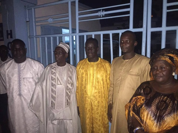 Les leaders du FDS/ Mànkoo Wattu Senegal au chevet d'Ahmed Aidara