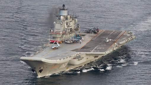 Un chasseur russe s'écrase sur un porte-avions