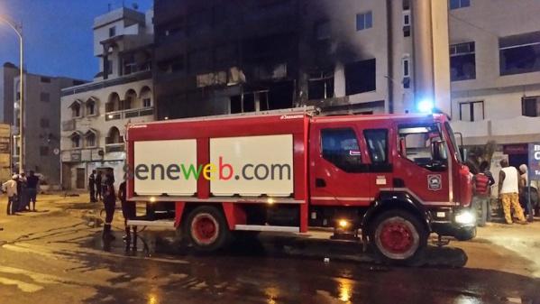 Incendie à Ouest Foire : Un blessé, plusieurs dégâts matériels