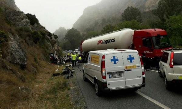 Cinq Français d'une même famille tués dans un accident de la route en Espagne