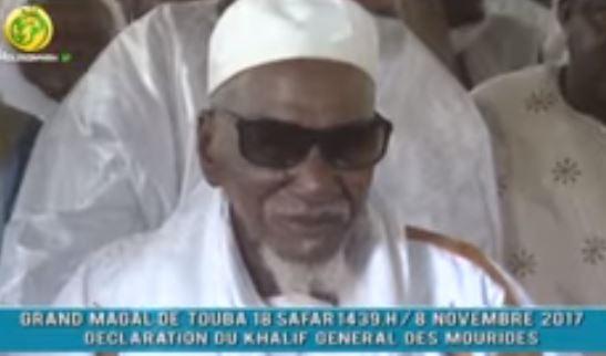 La déclaration du Khalife des mourides, Serigne Cheikh Sidy Mokhtar