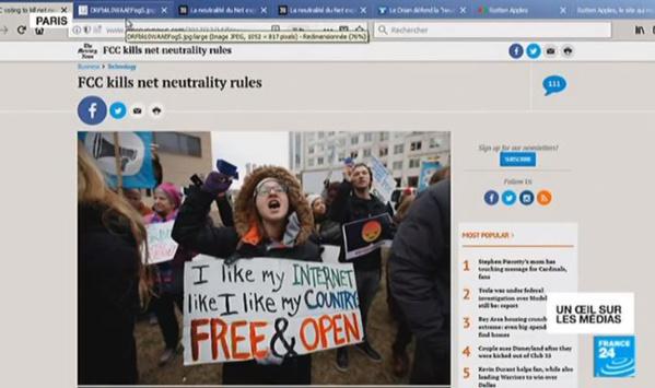 Etats-Unis : la neutralité sur le net c'est fini
