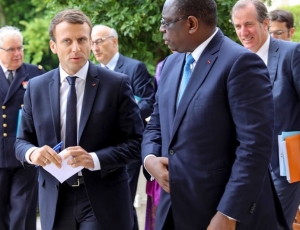 Emmanuel Macron à Saint Louis au mois de Février
