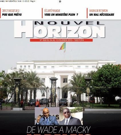 Nouvel Horizon cesse de paraître à partir du 5 janvier