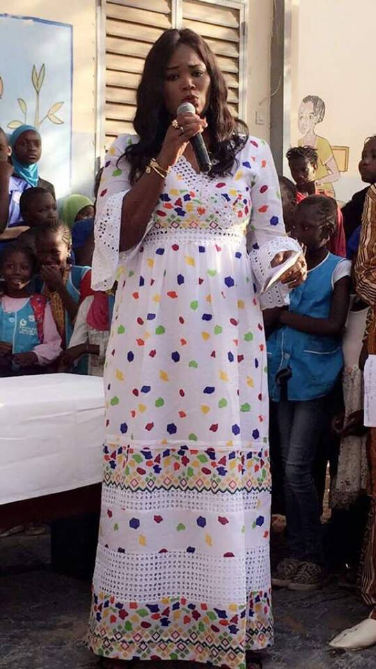 8 mars : La présidente l'UDES/R, Fatoumata Niang BA marraine de l'association CODEF, des enseignantes de Grand Yoff