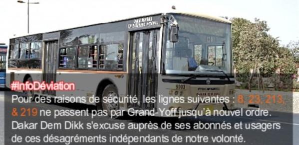 Dakar Dem Dikk suspend ses lignes à Grand Yoff, fief de Khalifa