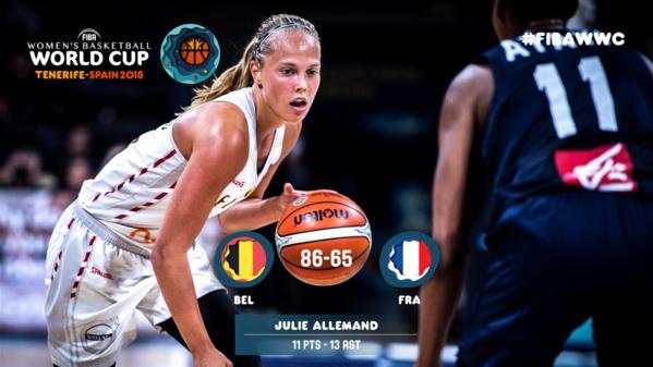 Basket-ball-Mondial féminin: La Belgique bat la France( 86-65) et file en demi-finales