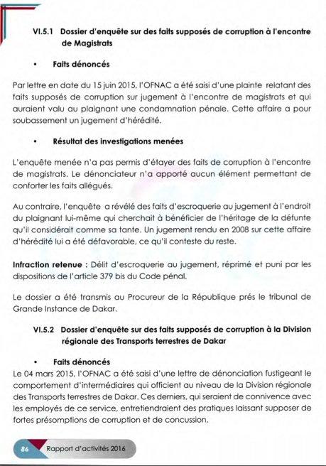 Rapport de l'Ofnac : Quatre dossiers transmis au procureur