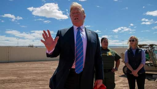 """Trump à la frontière mexicaine: """"On est complet"""""""