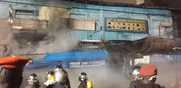 URGENT- Grave incendie au marché Sandaga