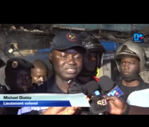 Bilan de l'incendie de Sandaga : Une personne incommodée par les fumées évacuée... Une vingtaine de cantines calcinées