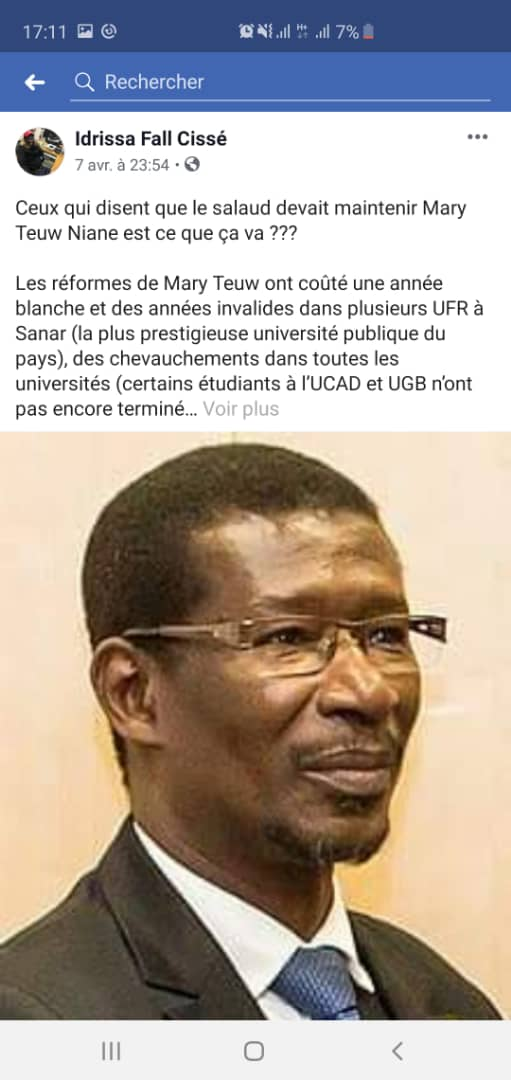 Insultes au Président Macky Sall : Après Adama Gaye, la Sr cueille Idrissa Fall Cissé