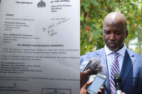 Gambie - Trafic de passeports diplomatiques: Des dizaines de personnes arrêtées, le ministre de la Justice au cœur du scandale