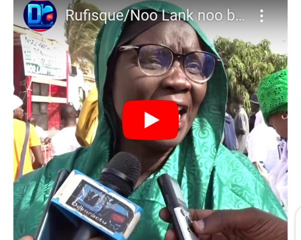 Rufisque/Noo Lank noo bagn : Les manifestants se prononcent