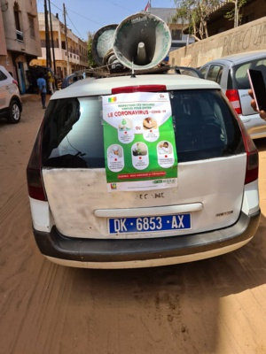 Ousseynou  Ndom Ba engage le combat anti-corona à Pikine