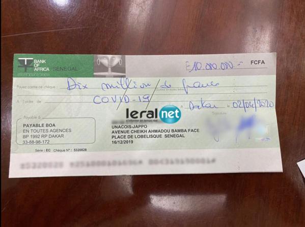 Contribution pour  Force Covid 19 – Les généreux bienfaiteurs ont vraiment donné leurs chèques !