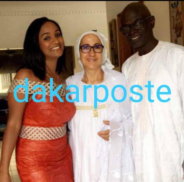 La défunte Hiba Thiam en compagnie de ses parents