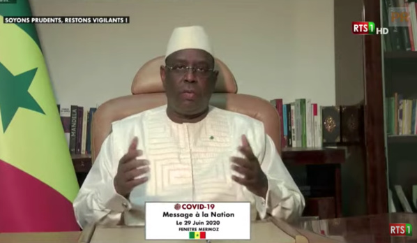Message à la Nation de SEM le Président Macky Sall
