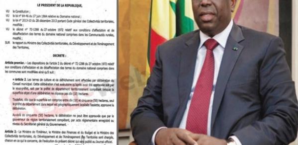 Affectation et désaffectation des terres du domaine national : Le nouveau décret qui renforce les Préfets et Gouverneurs