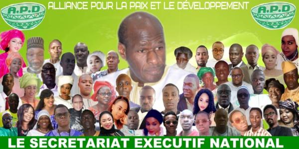 Communique de l'APD et de la coalition ADIANA du Ministre Thierno LO: (Le temps du rassemblement )