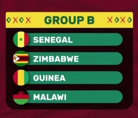 Tirage au sort CAN 2022 : Le Sénégal dans le Groupe B avec le Zimbabwe, la Guinée et le Malawi !