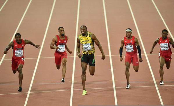 Athlétisme – Usain Bolt décroche à Pékin un troisième titre mondial sur 100 mètres