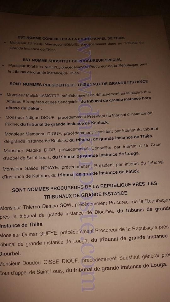 Les nominations du CONSEIL SUPERIEUR DE LA MAGISTRATURE!