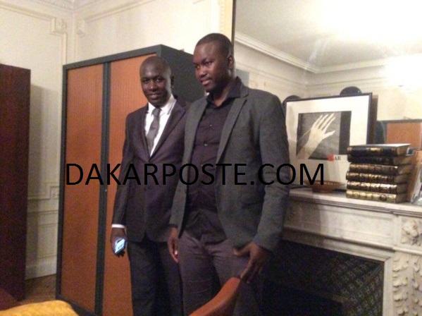 Le Dieuwrigne de Paris, Endam (avec la cravate) avec le médecin traitant du Cheikh, en l'occurrence Dr Khadim Ngom dans le bureau du notaire