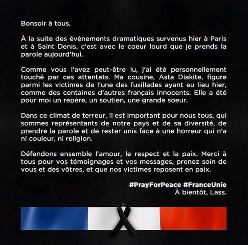 Attentats à Paris : Lassana Diarra endeuillé