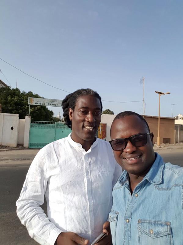 Mame Gor Diazaka et Cheikh Gadiaga après leur visite à Karim WADE
