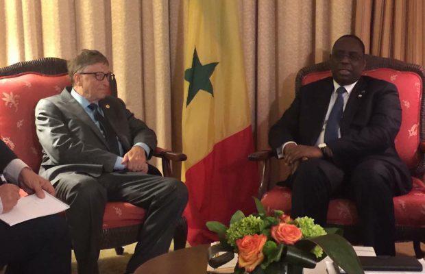 Audience du President Macky Sall avec Monsieur Bill Gates à Montreal