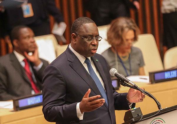 """LA QUESTION DE L'ÉNERGIE EST UN ENJEU VITAL EN AFRIQUE "" (MACKY SALL)"