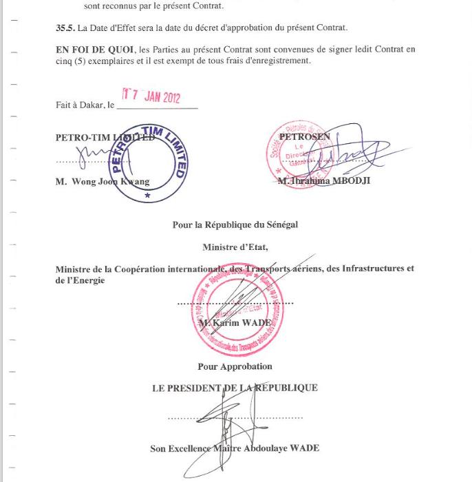 Confidentiel :  l'intégralité des contrats pétroliers signés par le Sénégal