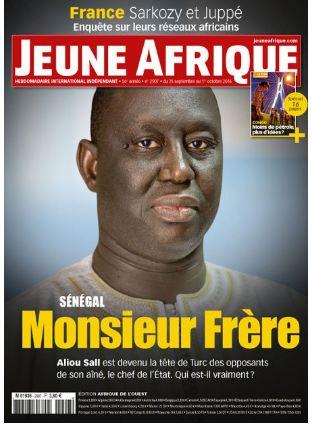 """Le mythe Aliou Sall"""" en version décryptage, à la une de Jeune Afrique Magazine"""