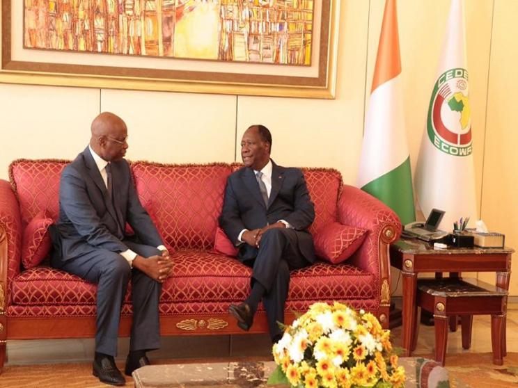 Candidature du Pr Bathily à l'UA  -  Abdoul Aziz Tall reçu par Alassane Ouattara