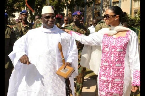 Le couple Jammeh, le général, les gardes du corps et la Dic