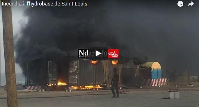 Vidéo : Le film de l'incendie au port de Saint-Louis