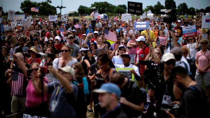 ETATS-UNIS : vague de manifestations contre la politique de Donald Trump