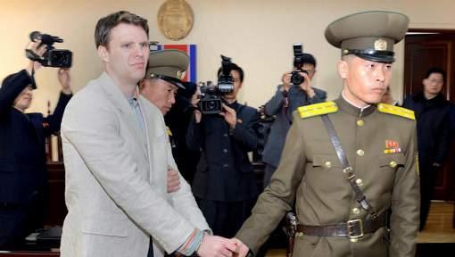 """L'étudiant américain libéré de Corée du Nord pour raisons """"humanitaires"""""""