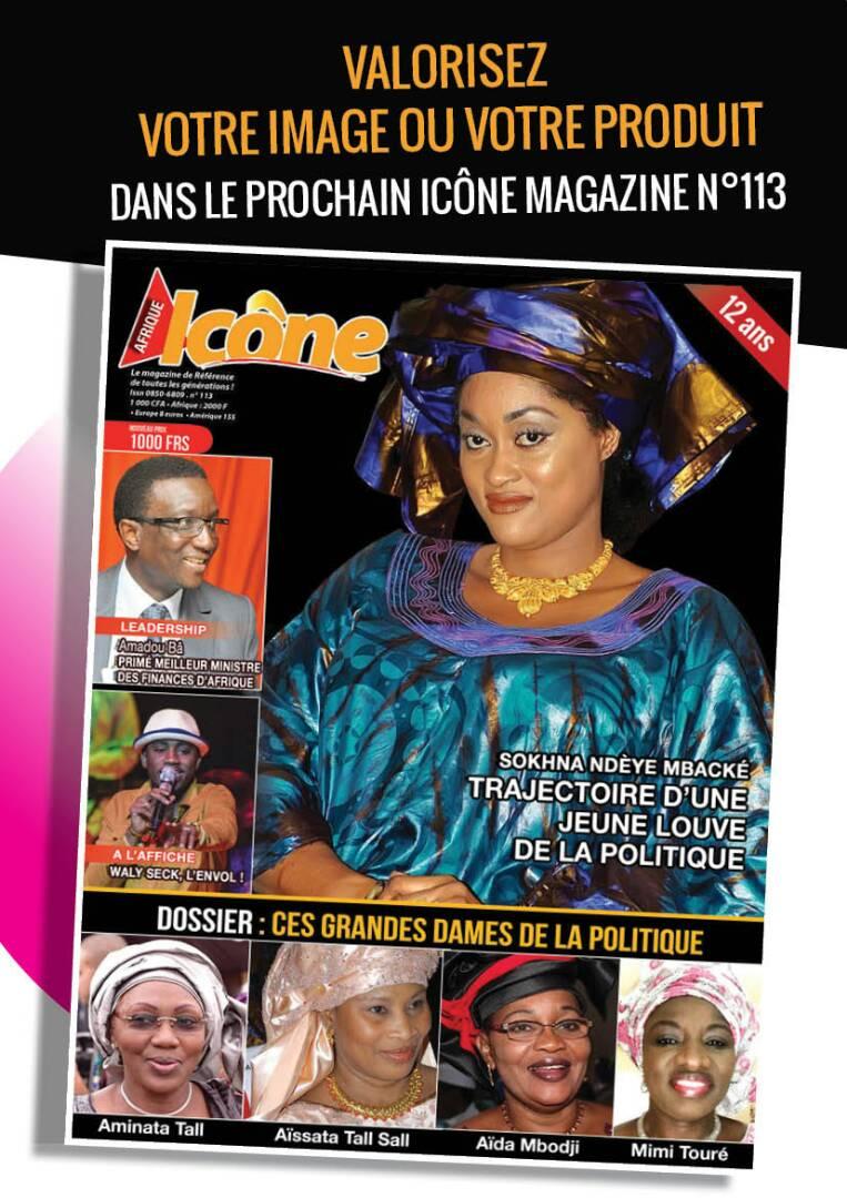 Voici la couverture de votre journal ICONE MAGAZINE N:113