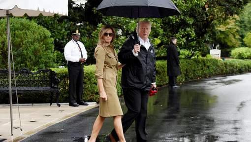 Donald Trump à la rencontre des sinistrés de Harvey