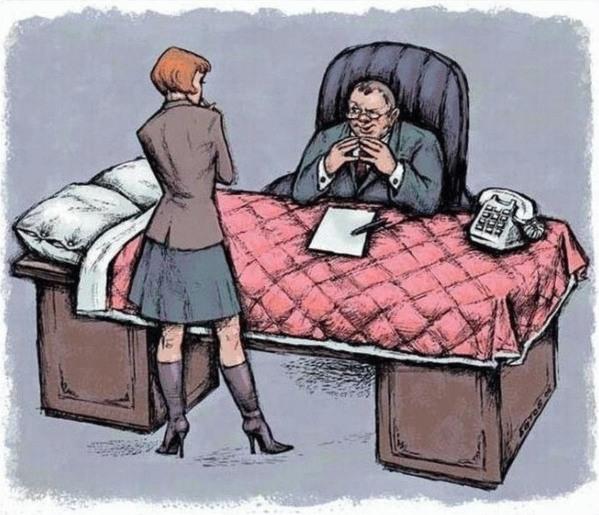 Promotion canapé : ce que propose le directeur du ministère du commerce aux jeunes filles.