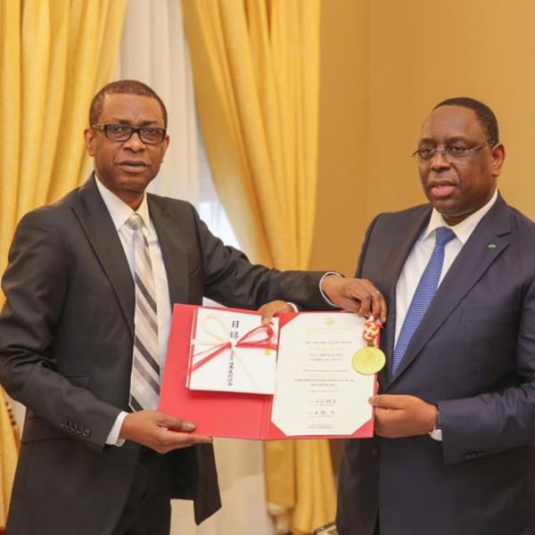 Youssou Ndour reçu à la présidence de la république