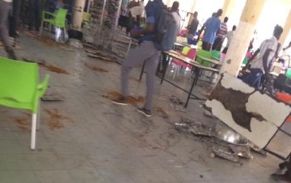 les étudiants de l'UGB le saccagent le restaurant N°2