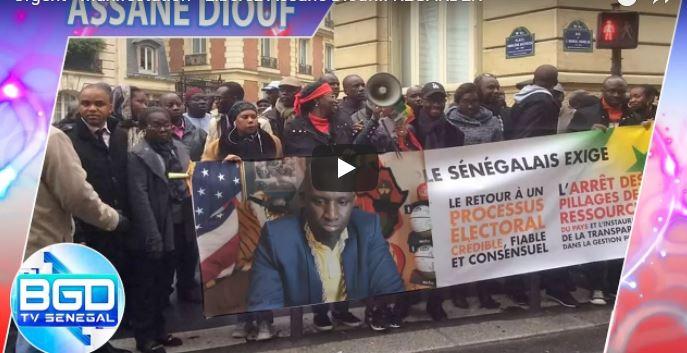 Manifestation en France pour la libération d'Assane Diouf