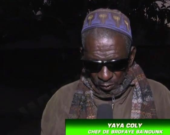 le Chef de village de Brofraye Baïnouck se prononce sur l'assassinat des 13 jeunes