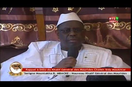 Touba: Les condoléances du Président Macky Sall…
