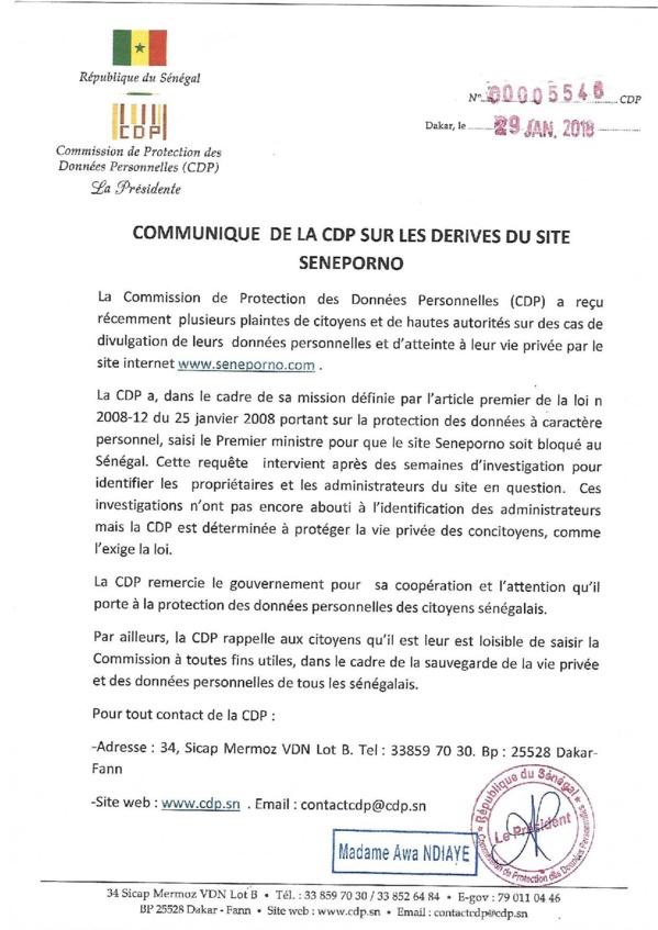 Awa Ndiaye et le CDP saisissent le Gouvernement pour que le site SENXXXX soit bloqué au Sénégal